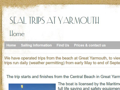 Seal Trips Yarmouth | Things to do | Caister Beach